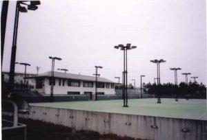 小真木原公園テニスコート照明設備工事