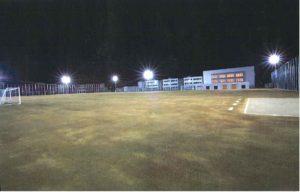鶴岡市立鶴岡第二中学校グラウンド照明・電気設備工事