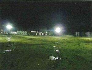 鶴岡市立朝日中学校改築グラウンド電気設備工事